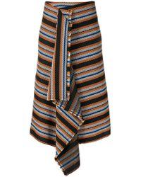 Dorothee Schumacher - Striped Asymmetric Skirt - Lyst