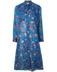 Étoile Isabel Marant - Robe midi en voile de coton Eliane - Lyst