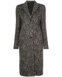 RTA - Leopard Print Coat - Lyst