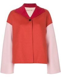 Marni | Two-tone Boxy Jacket | Lyst