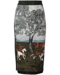 Antonio Marras - Intarsia Pencil Skirt - Lyst