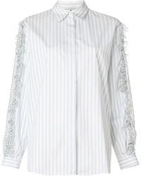 Marco De Vincenzo - Gingham Ruffled Shirt - Lyst