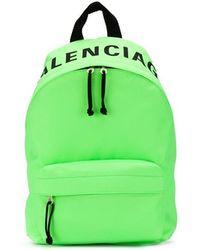 d567c4731154b Balenciaga - Wheel Rucksack Aus Neonfarbenem Shell Mit Stickerei - Lyst