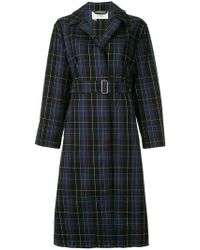 Ports 1961 - Checked Trench Coat - Lyst