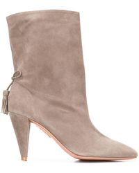 6c021bff5a939 Lyst - See By Chloé Claudia Shearling And Suede Ankle Boots in Black