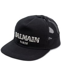 Balmain - Бейсболка С Вышитым Логотипом - Lyst