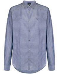 Emporio Armani - Camicia con motivo geometrico - Lyst