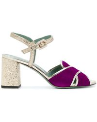 Paola D'arcano - Crossover Block-heel Sandals - Lyst