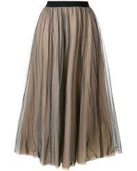 Nude - Flared Style Skirt - Lyst