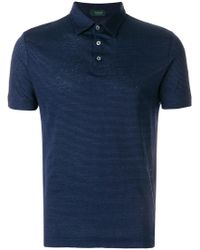 Zanone - Striped Polo Shirt - Lyst