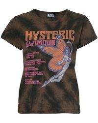 Hysteric Glamour - Butterfly Girl Print T-shirt - Lyst