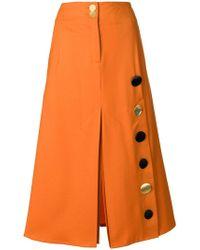 Eudon Choi - Button Detail Skirt - Lyst