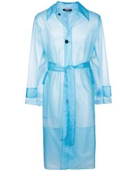 CALVIN KLEIN 205W39NYC - Translucent Trench Coat - Lyst