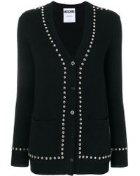 Moschino - Studded Mid-length Cardigan - Lyst