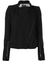 Ann Demeulemeester Blanche - Off Centre Zip Jacket - Lyst