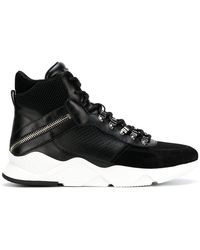 Balmain - Ankle Lace-up Sneakers - Lyst
