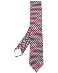 Kiton - Geometric Embroidered Tie - Lyst