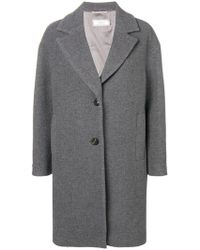 Peserico - Single Breasted Coat - Lyst