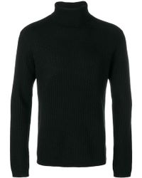 Theory - Roll Neck Knitted Sweater - Lyst