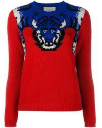 Gucci - Tiger Knit Jumper - Lyst