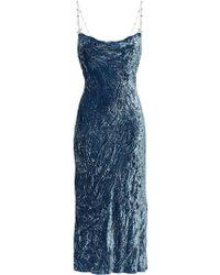 917dbb363e7 Miu Miu - Crushed Velvet Dress - Lyst