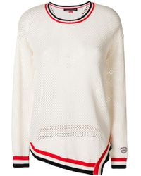 Perfect Moment - Striped Mesh Sweat - Lyst