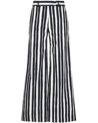 Martin Grant - Striped Palazzo Trousers - Lyst