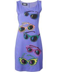 Jeremy Scott - Sunglasses Print Fitted Dress - Lyst