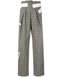 Kolor - Taped Plaid Trousers - Lyst