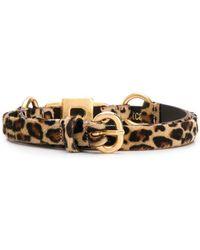 Just Cavalli - Gold And Leopard Print Belt - Lyst