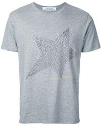 Education From Young Machines - Studded Star T-shirt - Lyst