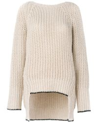 Nude | Ribbed V-back Sweater | Lyst