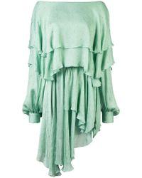 Alexandre Vauthier - One-shoulder Ruffle Dress - Lyst