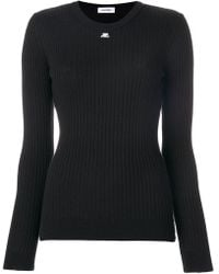 Courreges   Ribbed Knitted Top   Lyst