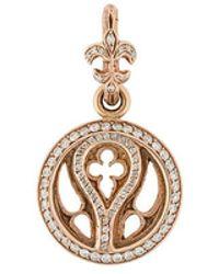 Loree Rodkin - 14kt Rose Gold And Diamond Quatrefoil Pendant - Lyst