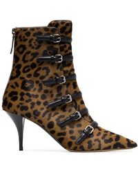 Tabitha Simmons - Dash Leopard Print Calfskin Ankle Boots - Lyst
