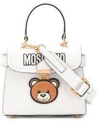97f3fe9494d5 Lyst - Moschino Teddy Bear Tab Leather Shoulder Bag in Black