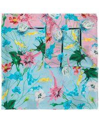 Class Roberto Cavalli - Floral Print Scarf - Lyst