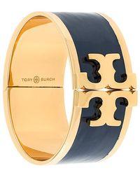 Tory Burch - Enamelled Raised-logo Wide Bracelet - Lyst