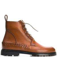 Bottega Veneta - Intrecciato Woven Boots - Lyst