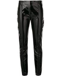Valentino - Vinyl Skinny Trousers - Lyst