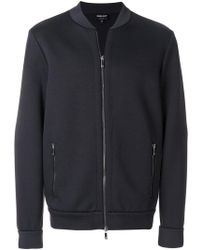 Giorgio Armani - Slim Fitted Bomber Jacket - Lyst