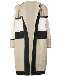 Urban Zen - Colorblocked Overcoat - Lyst