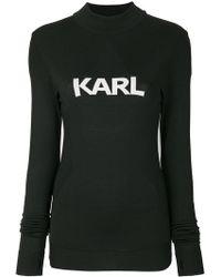 Karl Lagerfeld - Ikonik Karl Fitted Jumper - Lyst