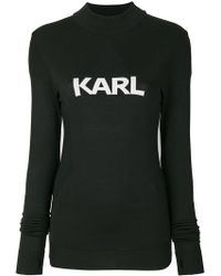 Karl Lagerfeld - Ikonik Karl Fitted Sweater - Lyst