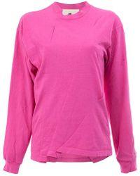 Aganovich - T-shirt Ricostruita A Manica Lunga - Lyst