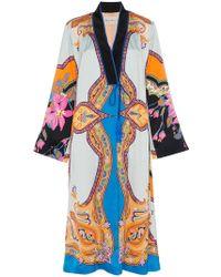 Etro - Cappotto Silk Robe - Lyst