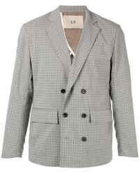 Loveless - Printed Double-breasted Blazer - Lyst