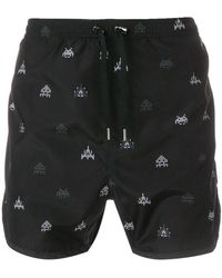 Neil Barrett - Space Invaders Print Swim Shorts - Lyst