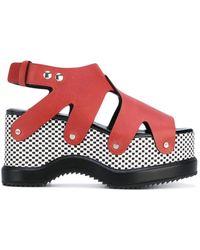 Proenza Schouler - Patterned Platform Sole Sandals - Lyst